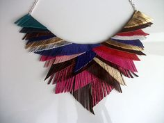 this leather necklace is really quite incredible!