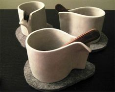 handbuilt ceramics | The CANADIAN DESIGN RESOURCE » Pliva Handbuilt Espresso Cups