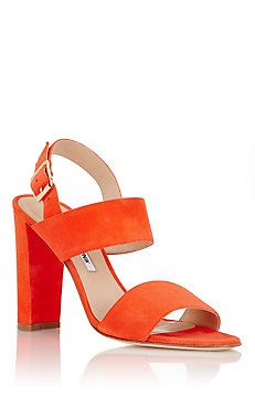 Suede Khan Double-Strap Sandals