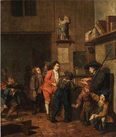"""""""Knabenschule"""" (Boys' school), 18th century. Jan Josef Horemans the Younger (1714-1790), Flemish painter. Oil on canvas."""