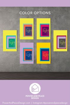 I have come as light into the world. –Jesus [John 12:46]  The powerful words of Jesus are front and center in this lavender and blue religious wall art. The bold color combinations in the geometric boxes will brighten any room of your home.  This modern Bible verse wall art is available in 6 bright color combinations so you can choose the one most suited for your colorful style.  #colorful #colorfuldecor #brightboldhome #colorfulnursery #John12:46 #Jesus #Bible #Christian Bible Verse Wall Art, Bible Art, Bible Verses, Yellow Kids Rooms, Yellow Nursery, Purple Art, Purple Walls, John 12 46, Christian Wall Art
