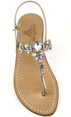 Shoes Flats Sandals, White Sandals, Beautiful Sandals, Jeweled Sandals, Summer Shoes, Cute Shoes, Wedding Shoes, Designer Shoes, Black Shoes