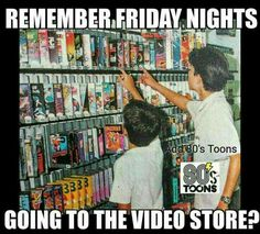 Berry's Video and a Domino's pizza was a Friday night tradition when our kids were growing up!