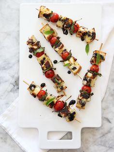Grilled Caprese Skewers | FoodieCrush.com