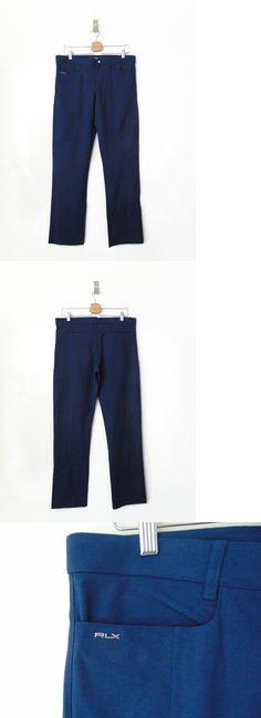 Pants 181148: Ralph Lauren Rlx New Women S Us 10 Solid Navy Golf Pants -> BUY IT NOW ONLY: $84 on eBay!