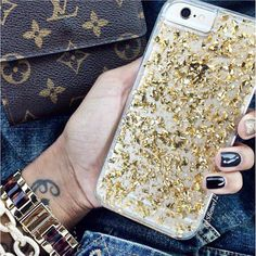 FREE SHIPPING ON ALL U.S ORDERS!  CHECK OUT OUR CLEAR GOLD LEAF GLITTER IPHONE CASE! DURABLE BUT SLIM & PROTECTIVE TOPPED WITH COLORFUL PINEAPPLES, MAKING I