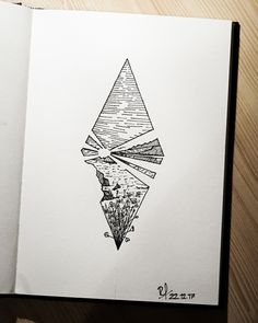 aesthetic drawings pen drawing geometric ink tattoo simple paper doodle mountain coloring