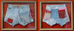 Ingelijste broek, aan beide kanten glas