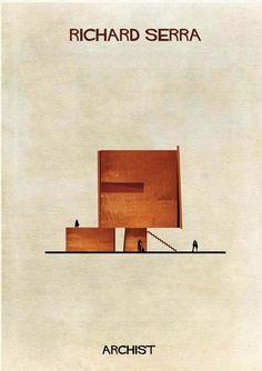 Archist: 27 edificios icónicos transformados en obras de arte, por Federico Babina. | diariodesign.com