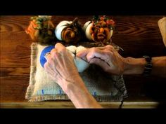 Needle Felted Pumpkin Tutorial 1: The Body by Sarafina Fiber Art - YouTube