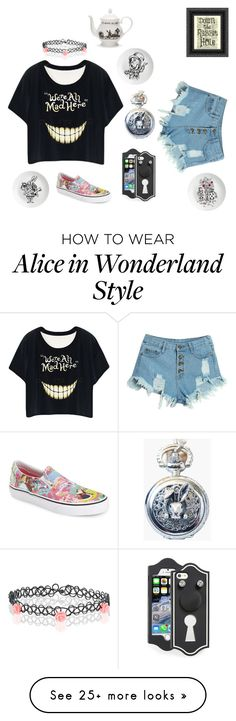 """""""Alice in Wonderland"""" by lissadzen on Polyvore featuring Monsoon, WithChic, Marc by Marc Jacobs, Eleanor Stuart, Vans, Mrs Moore's Vintage Store, women's clothing, women, female and woman"""