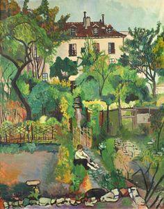 """""""12 Rue Cortot, Montmartre"""" (1919). Suzanne Valadon (pintora, modelo de los pintores impresionistas y madre de Maurice Utrillo) (Francia, 1865-1938)."""