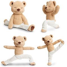 Meddy Teddy is a bendable meditating, yoga and meditating teddy bear. Teach kids/children yoga poses by bending Meddy Teddy into different yoga poses.