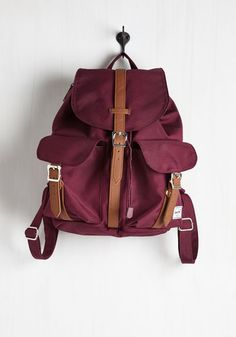 Action Packed and Ready Backpack. The weekend is bound to be full of surprises, but you have your burgundy Herschel Supply Co. #red #modcloth