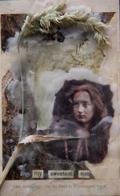 Jo Archer | The Lost Summer - Son | encaustic collage /sm