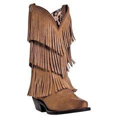 Dingo Women's Triple Layered Fringe Western Fashion Boots