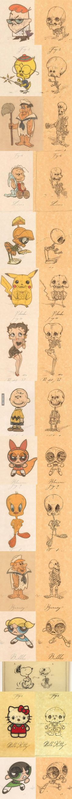 Anatomy of Cartoon Characters - by Michael Paulus