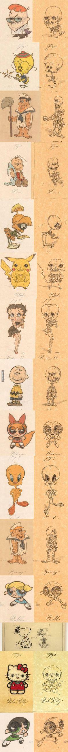 Anatomy of Cartoon Characters - by Michael Paulus