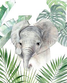 Safari Jungle, Jungle Nursery, Jungle Animals, Cute Baby Animals, Wild Animals, Nursery Prints, Nursery Art, Nursery Decor, Boy Decor