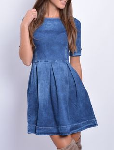 Rifľové šaty 2995 Casual, Dresses, Fashion, Vestidos, Moda, Fashion Styles, Dress, Fashion Illustrations, Gown