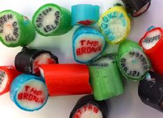 Papabubble Hand Crafted Hard Candy: I Love New York - 5 Boroughs Mix Candy Necklaces, Hard Candy, Sushi, Watermelon, The Incredibles, Rock, Fruit, Ethnic Recipes, Crafts