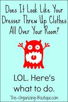 Does It Look Like Your Dresser Threw Up Clothes All Over Your Room? LOL. Here's How To Organize Your Dresser | The-Organizing-Boutique.com