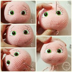 The picture, not the link! Cómo expresión facial a Amigurumi༺✿ƬⱤღ https://www.pinterest.com/teretegui/✿༻