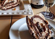Mascarponés gesztenyés tekercs finomságokkal   kerbicid receptje - Cookpad receptek French Toast, Dessert Recipes, Cooking Recipes, Xmas, Breakfast, Cake, Food, Morning Coffee, Chef Recipes
