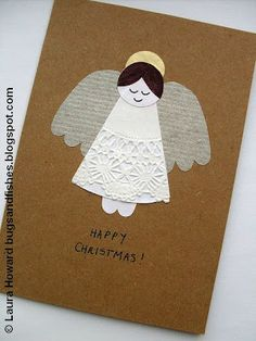 DIY:: How To: Vintage Angel Christmas Card
