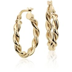 Blue Nile Twisted Hoop Earrings (265 AUD) ❤ liked on Polyvore