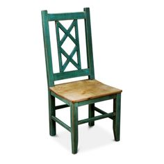 Bombay Turquoise dining chair. Add color to your Kitchen with this turquoise dining chair. Go ahead and mix-n-match, this chair also comes in cream.