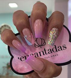Beauty Nails, Hair Beauty, Gold Glitter Nails, New Nail Art, Pretty Nail Art, Short Nails, Cute Nails, Acrylic Nails, Manicure