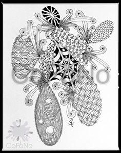CoFoNo - Anfertigung von Portraits oder Unikaten in Zentangle® Inspired Art, Auftragsarbeiten, Geschenkideen, individuelle Zeichnungen, moderne Kunst, Entspannungstechnik, Zeichnungen mit Finelinern bzw. Tusche