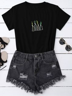kuakuayu HJN Women Dead Inside T Shirt Hipster Grunge Style Black Tee Gothic Clothing-in T-Shirts from Women's Clothing on AliExpress - Day Teen Fashion Outfits, Swag Outfits, Tween Fashion, Grunge Outfits, Grunge Fashion, Outfits For Teens, Casual Outfits, Womens Fashion, Fashion Black