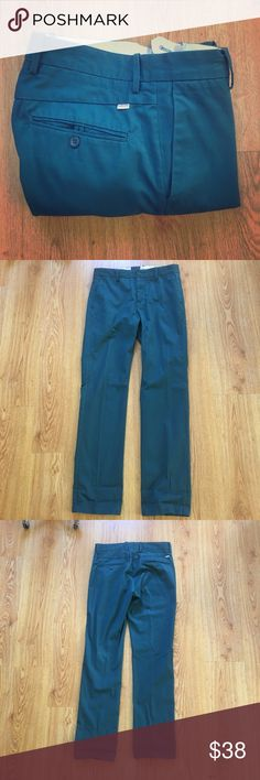 Levi's 513 Twill Pants In TEAL 32X32 TEAL  LIKE NEW WORN ONCE READY TO WEAR DIRECT FROM DRY CLEAN SIZE 32X32 WAIST 32'' AROUND INSEAM 32'' 100%COTTON Levi's Pants Chinos & Khakis