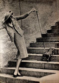 Chanel 1957 Photo by Frank Horvat #dachshund #teckel #doxie