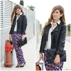 A TRENDY LIFE: LOOK WITH MY PRINT PANTS