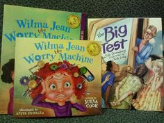 My favorite books to help with testing anxiety.