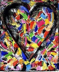 jim dine | Jim Dine, The Confetti Heart , 1985, lithography (Private collection)