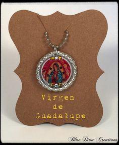 A personal favorite from my Etsy shop https://www.etsy.com/listing/251982584/virgen-de-guadalupe-bottle-cap-necklace