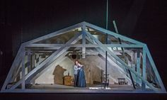 La Boheme from The Royal Opera House Covent Garden. Production by Stewart LaingRichard Jones. Sets by