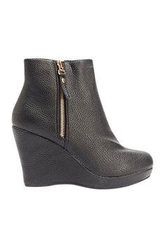 Luxstore kort kilehæl støvle