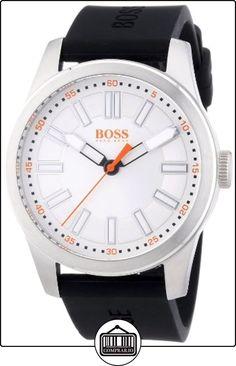 Boss Orange Big Up 1512937 - Reloj analógico de cuarzo para hombre, correa de silicona color negro de  ✿ Relojes para hombre - (Gama media/alta) ✿