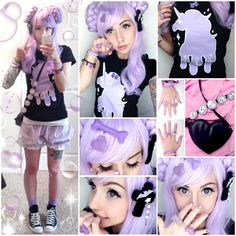 Alexa's Style Blog: Dripping Unicorn Pastel Goth Daily Style Post