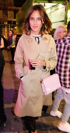 Alexa Chung - Bleach London's fifth birthday party at their Berwick Street salon in Soho @ London Fashion Week. (18 September 2015)