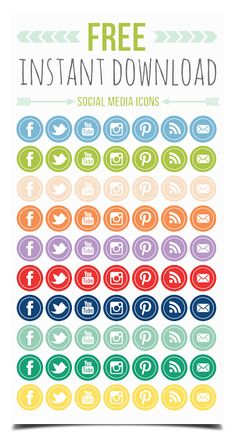Print Smitten: Free Social Networking Icons!
