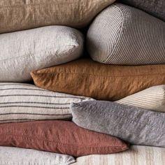 Luxurious European Linen Bedding & Linen Sheets | Hale Mercantile Co. Sofa Throw Cover, Throw Pillows, Bedding Shop, Linen Bedding, Boho Inspiration, Linen Sheets, Luxury Bedding, Cushions, Pure Products