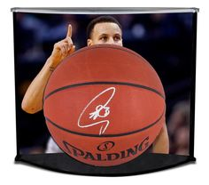 eb87bc807f3 STEPHEN CURRY Autographed Authentic Spalding Basketball Curve Display  FANATICS - Game Day Legends Stephen Curry,