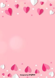 Único e Criativo Simple Pink And White Origami Background For Valentines Day happy valentines day,pink hearts,halo,bu.