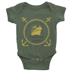 Welcome on Board Infant short sleeve one-piece, personalized baby clothing